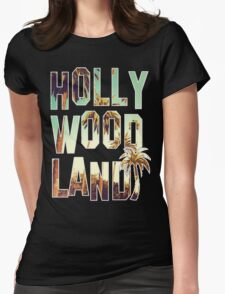 Hollywood Land! Womens Fitted T-Shirt