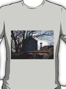 Old Graveyard Cross Boat T-Shirt