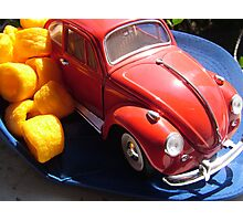 Baseball cap, Beetle & Cheezels Photographic Print