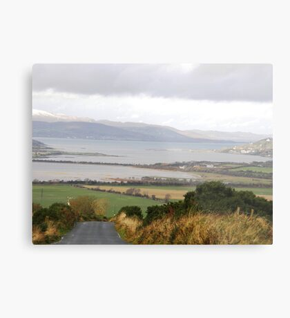 Lough Swilly with snow capped Donegal Hills - Donegal Ireland  Metal Print