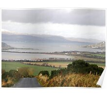 Lough Swilly with snow capped Donegal Hills - Donegal Ireland  Poster