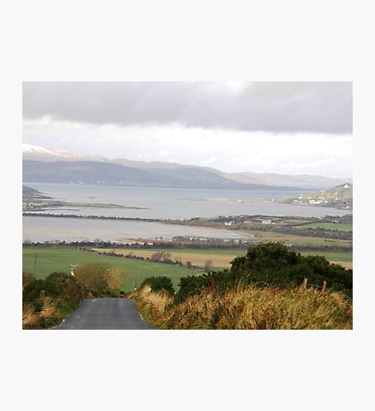 Lough Swilly with snow capped Donegal Hills - Donegal Ireland  Photographic Print