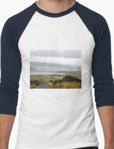 Lough Swilly with snow capped Donegal Hills - Donegal Ireland  Men's Baseball ¾ T-Shirt
