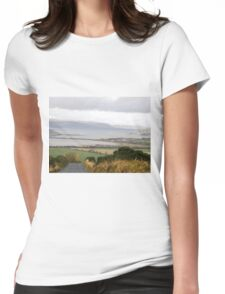 Lough Swilly with snow capped Donegal Hills - Donegal Ireland  Womens Fitted T-Shirt