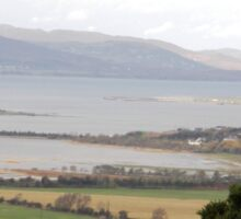 Lough Swilly with snow capped Donegal Hills - Donegal Ireland  Sticker