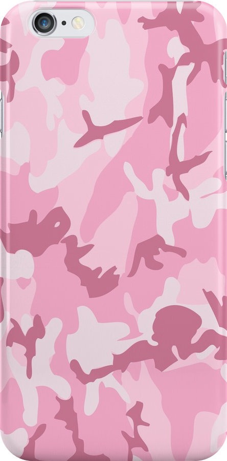 Cute Pink Camouflage Pattern by iEric