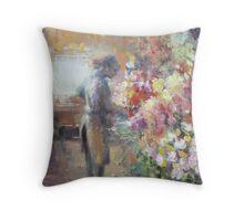 Fleuriste de Paris Throw Pillow