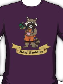 Rocket and Groot are best buddies T-Shirt