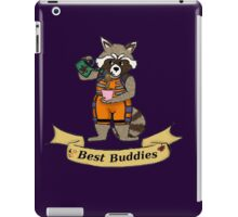 Rocket and Groot are best buddies iPad Case/Skin