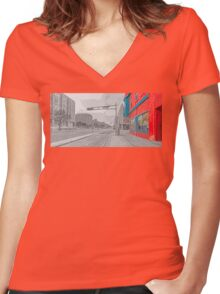 The Red Diner Women's Fitted V-Neck T-Shirt