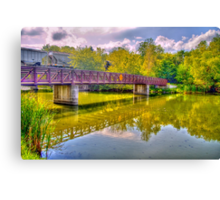 Bridge & Reflections Canvas Print