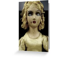 """Lonely Girl"" - Antique Mall Doll "" Greeting Card"