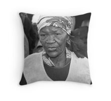 Cape Town Woman Throw Pillow