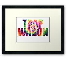 Trap Wagon Tie Dye Framed Print