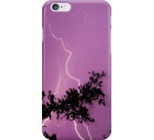 Purple Lightning Bolt iPhone Case/Skin
