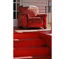 Red Chair, Red Porch Photographic Print
