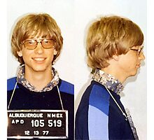 Bill Gates Mugshot Photographic Print