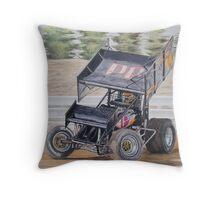410 Sprintcar Throw Pillow