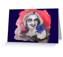 Harley Quinn watercolor Greeting Card
