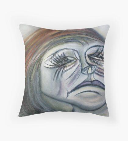 Sad Beauty... Throw Pillow