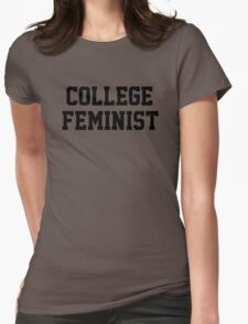 College Feminist Womens Fitted T-Shirt