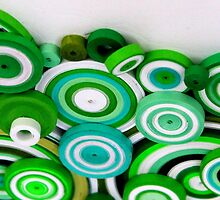 Green cirles by Omoshalie