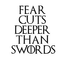 Fear cuts deeper than swords - Arya Stark by Carol Oliveira