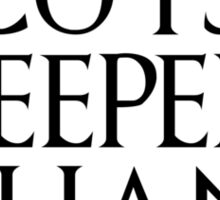 Fear cuts deeper than swords - Arya Stark Sticker