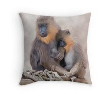 Mandrill and Young Throw Pillow