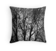 grey sky. Albury Throw Pillow