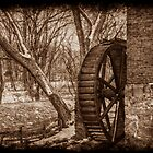 Kerr Mill Waterwheel in Winter by Christine Annas