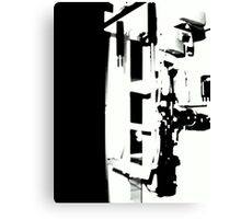 Black 'n White Handle on the Situation © Canvas Print