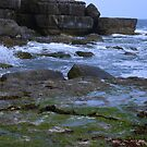 Sea and Rocks - Winspit Dorset by viennablue