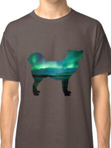 Aurora Borealis Malamute Classic T-Shirt