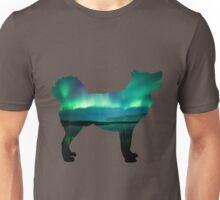 Aurora Borealis Malamute Unisex T-Shirt