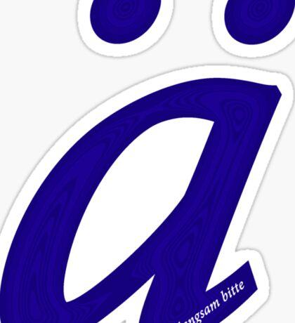 German 'a' with umlaut - navy blue Sticker
