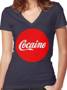 Cocaine Women's Fitted V-Neck T-Shirt