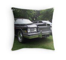 Black Cadillac 1972 Car Throw Pillow