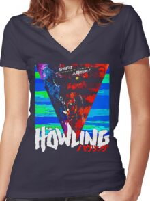 Howling in Japan Women's Fitted V-Neck T-Shirt