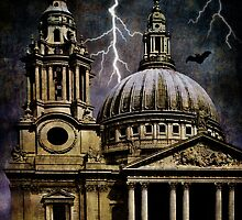 Stormy Night at St. Pauls by Ann  Van Breemen