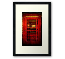 Telephone Box - unhinged Framed Print