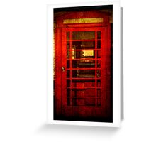 Telephone Box - unhinged Greeting Card