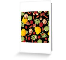 Seamless vegetables Greeting Card
