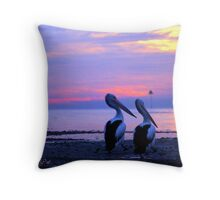 Morning Stroll , Manly Bay, Brisbane Throw Pillow