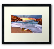 Sunset over Seaside Robe Framed Print