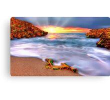 Sunset over Seaside Robe Canvas Print