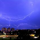 Lightning over Kensington by Steven Guy