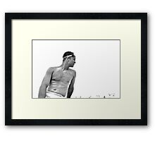 YOUNG MAN AT THE BEACH IN THE BAHAMAS Framed Print