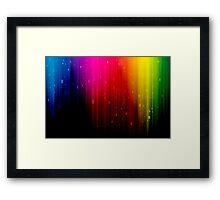 colors rainbow Framed Print
