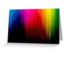 colors rainbow Greeting Card